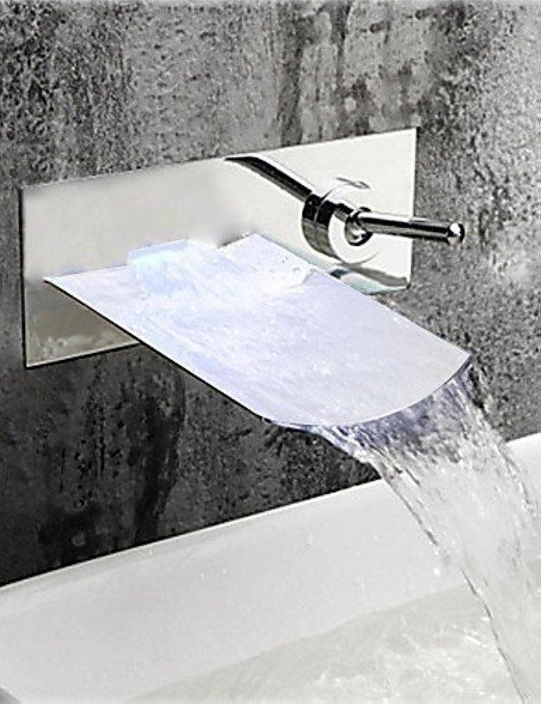 Marcu Home Stilvolle Chrom-Finish Wasserfall Wandhalterung Waschbecken Wasserhahn - Silber