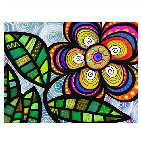 5D DIY diamante pintura bordado mosaico punto de cruz decoración del hogar flores puntada flor hecha a mano fotos de diamantes de imitación 40x50 cm