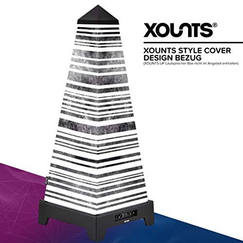 XOUNTS Style Cover 'Vintage Stripes' – Premium Flies-Cover für XOUNTS UP Musikanlage – Design-Cover im Retro-Streifen-Look – Einzigartiges Lichtspiel – Als Zubehör für XOUNTS UP Lautsprecher