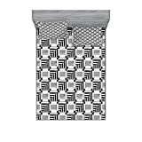 """MEASUREMENTS - 1 queen size sheet 60"""" wide X 80"""" long & 2 pillow shams 30"""" wide X 20"""" long. MADE FROM - Super soft 100% brushed microfiber fabric. Sheet and sham set with modern prints. FEATURES - All-round elastic pocket, fits mattresses up to 16"""". ..."""