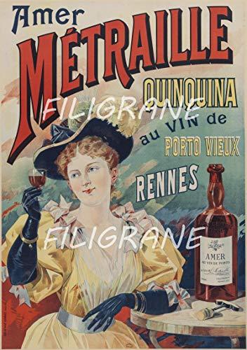 PostersAndCo TM - Póster de vino, diseño de Porto Rgxk-Reproducción 60 x 80 cm x D1, estilo vintage y retro