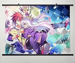 No Game No Life Sora / Shiro Japanese Anime Wall Scroll Poster Cosplay 23.6 x 17.7 Inches-057