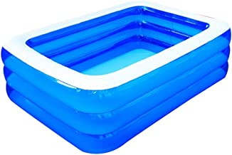 XUzgHA XUZG - Piscina hinchable para niños, diversión familiar, piscina con tobogán, bañera, piscina, piscina rectangular, a, 210*140*65cm