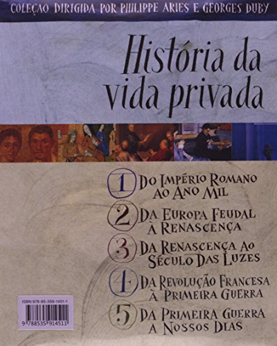 Coleção História Da Vida Privada - 5 Volumes