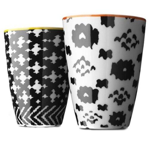 MENU サーモカップ ノルディックウール ミディアム (オレンジ/イエロー) 2個セット 4501279