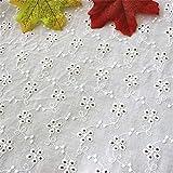 レース 生地 布 綿 刺繍 パッチワーク布 コット 生地 カットクロス 布 生地 ハンドメイド用品 手芸 手作り 縫製用 大人用 家庭用 (1M)