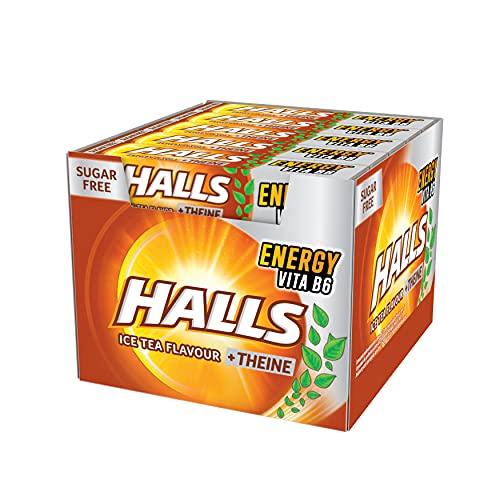 Halls Té Helado - Caramelo duro - Caja con 20 Sticks de 32 g