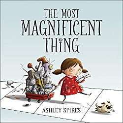 "In this fabulous little book you meet a little girl that gathers a huge amount of junk and begins to make things. Yet she is never satisfied with the things that she makes. She is very unhappy and then begins to take a closer look at all her things and she thinks, ""What if I took a part off that one and another part off this one""? Check this blog post for a STEM challenge!"