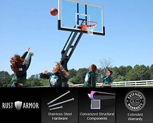 Pro Dunk Thor Platinum 72' Regulation In-Ground Adjustable Basketball...