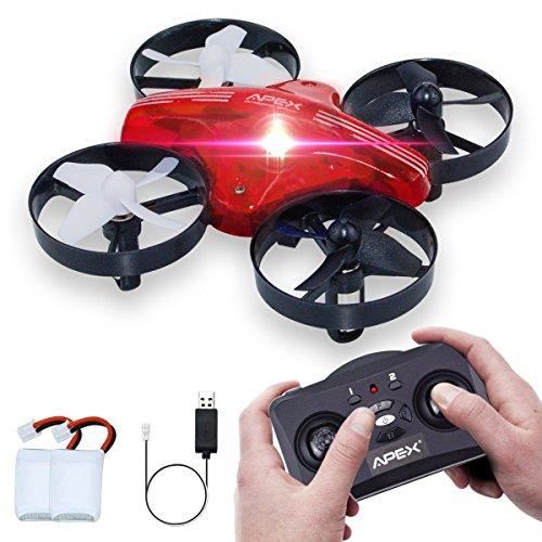 HD HARUDONE GD65A Mini Drohne Quadrocopter RC Flugzeug Spielzeug Geschenke Indoor Outdoor Spiele für Kinder Jungen (Rot)