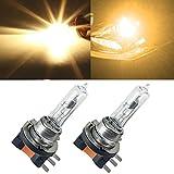 H15 64176 Halogen Light Bulb - Yellow 4300k 55W H15 Halogen Lamp Auto Headlights Bulb Replacement For Audi BMW Mercedes Volkswagen DRL Daytime Running Lights(H15)