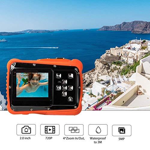 Niños profesional impermeable de la cámara digital bajo el agua acción videocámara for Niños Niñas Deportes de agua antichoque acción de la cámara de la pantalla LCD de 2,0 pulgadas tarjeta de 32GB Co