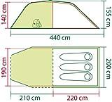 Zoom IMG-2 coleman coastline 3 plus tenda