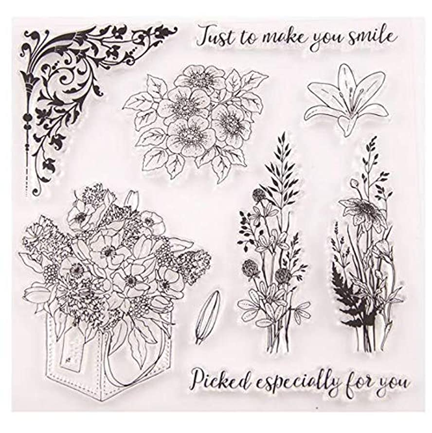 Welcome to Joyful Home 1pc Floral Rubber Clear Stamp for Card Making Decoration and Scrapbooking