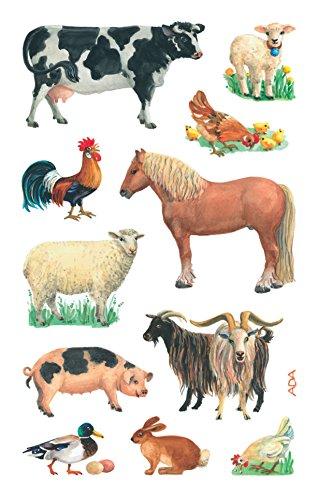 AVERY Zweckform 53720 Kinder Sticker Bauernhof Tiere 33 Aufkleber