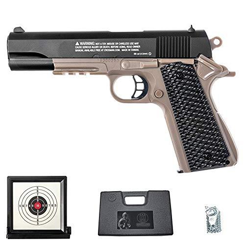 Pistola S1911 (Muelle)   Pack Pistola de balines BB's de Acero Crosman con maletín y Diana de Gel Calibre 4.5mm