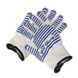 2pcs Oven Glove Heat Proof Resistance Surface Hand Protective Kitchen Tool