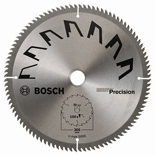 Bosch 2609256B60 Precisie Cirkelzaagblad met 100 tanden - Carbide - Clean Cut - Diameter 305 mm - Boor 30 mm - Snijbreedte 2,5 mm