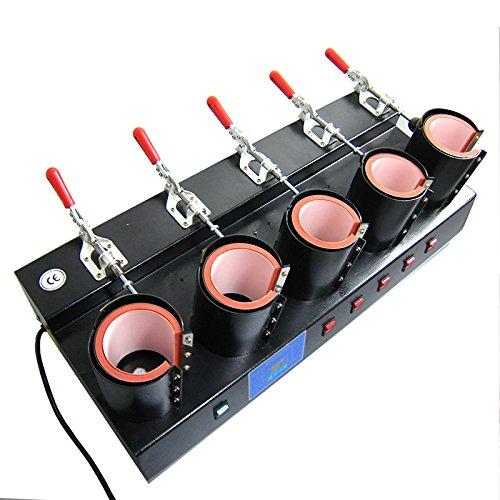 Preisvergleich Produktbild HobbyCut 5-Fach Tassenpresse Becherpresse Transferpresse Sublimation Tassen