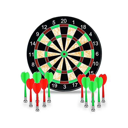 """ROYPACK Magnetic Dart Board Kids - 12pcs Magnetic Darts, Safe Dart Game for Kids, Easy to Hang, Fun Dart Game for Kids and Make Great Xmas or Birthday Gifts for Boys or Girls (17"""" Magnetic Dart Board)"""