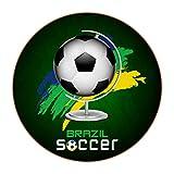 Juego de 6 posavasos para bebidas, posavasos flexibles para bebidas calientes y frías, fútbol de Brasil