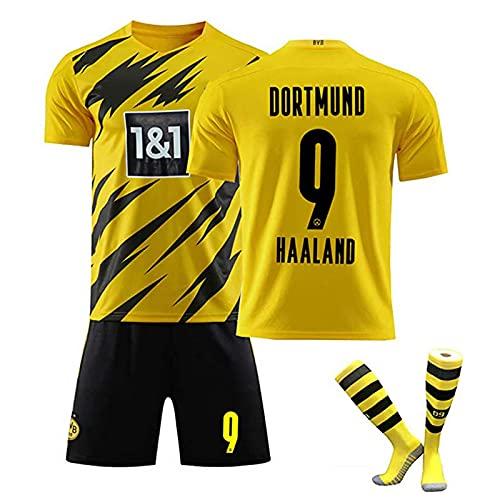 DSechcrsL Uniforme De Fútbol, 9 Haaland 2021 Local Y Visitante Camisetas De...