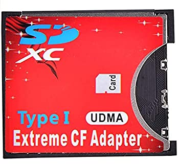 Original Quality Memory Extreme Single SD MMC SDHC SDXC Slot to CF Type I Compact Flash CF Card Adapter for high-Speed use with SLR Cameras