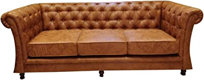 Cozylaner Presents Hometown Exclusive Wood Three Seater Sofa Perfect for Living Room