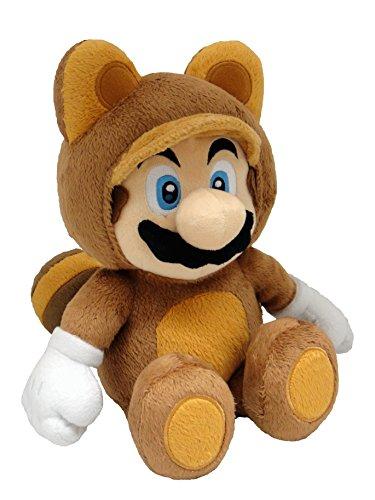 San-Ei SI04202019 - Peluche Super Mario 3D Land - Mario Tanuki, 23 cm
