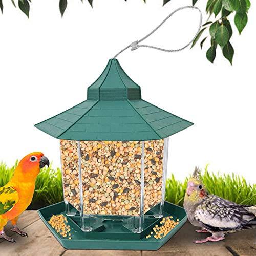 LZLZ Vogelfutterspender,Futterautomat zum Hängen,Vogelfutterhaus,Vogelfutterstation,Parrot Futterautomat für Kleine bis Mittelgroße Vögel Draussen Vogelfütterer