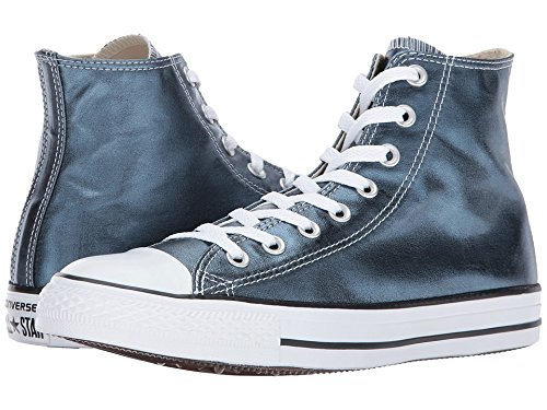 Converse Chuck Taylor All Star - Hi Metallic Canvas Blue Fir/White/Black Women's Lace up casual Shoes