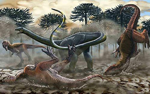 Puzzel 1500 Stukjes Dinosaurussen Bestrijden, Educatieve Spellen, Puzzelgeschenken Voor Vrienden