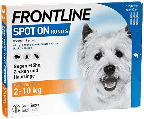 Frontline Spot On gegen Zecken und Flöhe für Hunde bis 10 kg