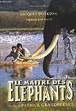"""Une plaquette de presse du film """" Le Maitre des Eléphants """" de Patrick Grandperret avec Jacques Dutronc, Erwan Baynaud, Sotigui Kouyate, Sidy Lamine Diarra, Halilou Bouba et Victor Tige Zra."""