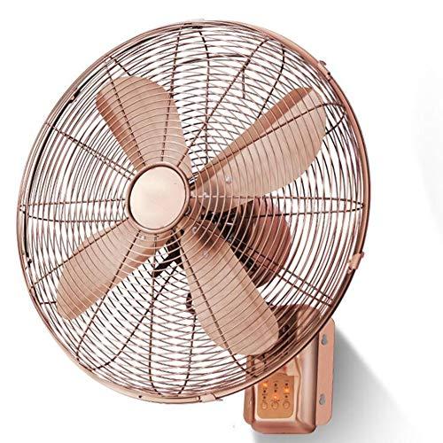 WIEGE DES WINDES 16-Zoll-Fan/Klassische Wandmontage Lüftung Falten Montiert Wohnzimmer-Montierte Energiesparventilator An-Schlafsaal,Remotecontrol