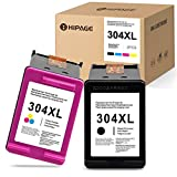 HIPAGE 304XL Compatible pour Les Cartouches d'encre HP 304XL 304 XL pour HP DeskJet 2620 2630 3720 3730 3735 HP Envy 5020 5030...