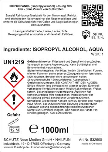 NAILFUN Isopropanol 70% Nailcleaner Erfahrungen & Preisvergleich