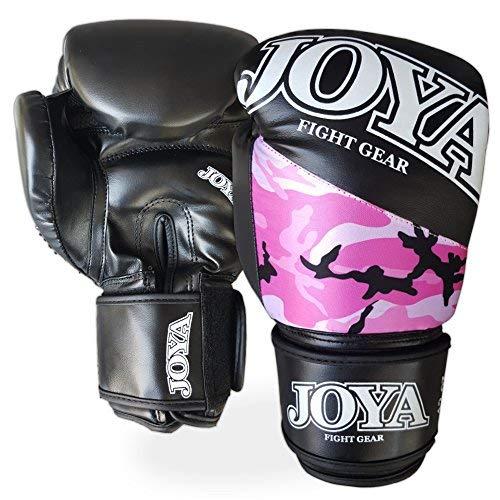 JOYA–035–Un Hombre One–Guantes, Color Rosa Camuflaje, 6oz