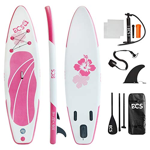 DCSSPORTS Premium Inflatable Paddle Board, 10'6' ×32' × 6', Rigid Board Built with Dual Layer Woven Drop Stitch, SUP with...
