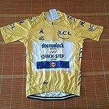 Ciclo De Honor De Un Ciclo Jersey Líder Ganador del Tour De Francia Maillot Transpirable Ropa De La Bici MTB Ropa Ciclismo Zzzb (Color : Quick Step, Size : L)