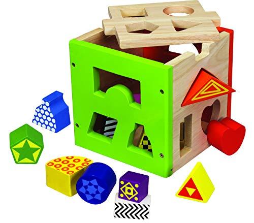 Eichhorn 100002224 La boite à formes en bois colorés