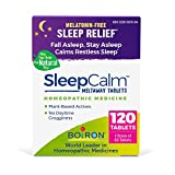 Boiron Boiron Sleepcalm Melatonin-Free Tablets, Homeopathic Sleep Aid, Calm Restless Sleep, Zzzs for Adults, 120 Tablets