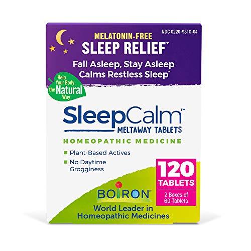 Boiron Sleepcalm Melatonin-Free Tablets, Homeopathic Sleep Aid, Calm...