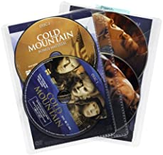 Atlantic 25 Pack Movie Sleeves - Clear Sleeve hold two discs each, Protects Discs Against Scratches and Dust
