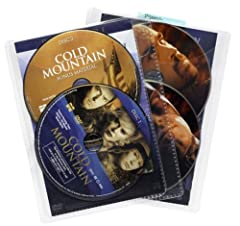 Organized media: These movie sleeves can store up to 50 cd's, DVD's, blue ray discs, or video game discs. Practical capacity: sleeves hold up to two discs in addition to the disc cover, for a total max capacity of 2 discs per sleeve. 25 total sleeves...