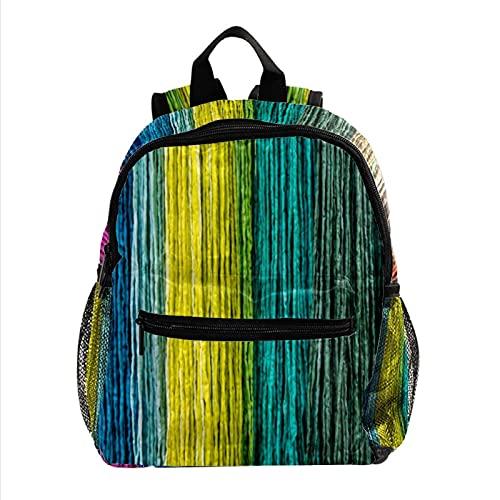 ColorMu Mini sac à dos pour ordinateur portable Sac pour ordinateur portable pour femme Texture de la planche de bois de couleur pour le travail, lécole, lextérieur