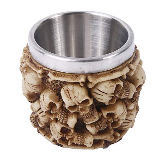 PPTS cráneo de cristal de vino de resina cabeza de cráneo regalos personalizados decoración del hogar de vidrio de vino