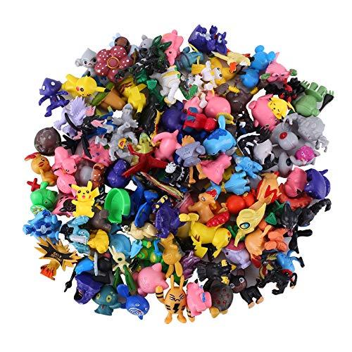 Colfeel Monster Figur, 48 Stück Pearl Minifiguren Pikachu Pearl Minifiguren Action Figuren für Mottoparty und Kindergeburtstag