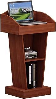 ZR- レクチャーテーブル、歓迎レセプションデスク教師の表彰台、ウェディングホスト (色 : Walnut color)