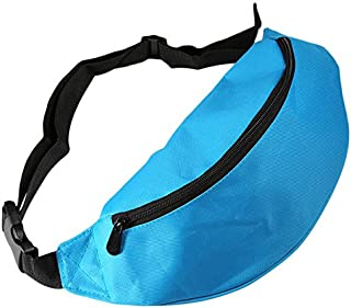 BEESCLOVER Outdoor Sport Running Hiking Bum Bag Woman Man Fanny Pack Travel Handy Waist Bag Money Belt Zip Pouch Wallet Plain